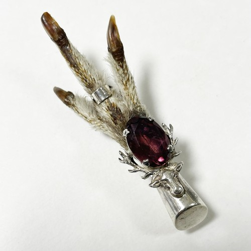 1952's Vintage Sterling Grouse Claw Brooch Made In Scotland