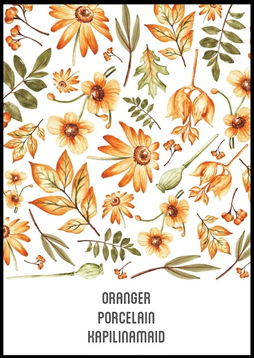 Oranger(オランジュー)転写紙 A4サイズ(ポーセラーツ用転写紙)