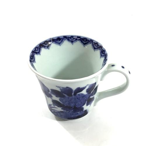 牡丹花鳥マグカップ