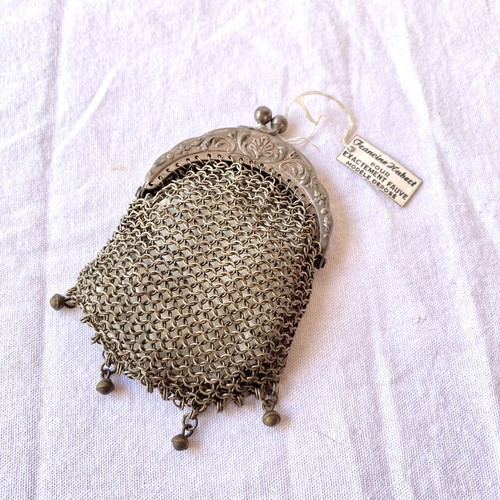 1800~1900's(!) French Antique Coin Purse with Box(!) #01