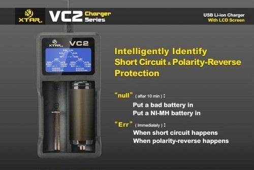 XTAR VC2 Battery Charger 充電器 リチウム バッテリー