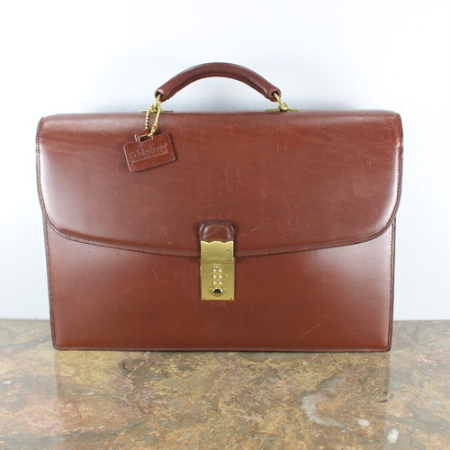 SCHLESINGER LEATHER BUSINESS BAG MADE IN USA/シュレジンジャーレザービジネスバッグ