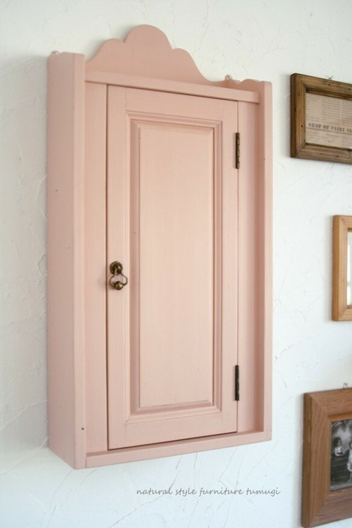ウォールキャビネット#2・ピンク・(シェルフ・棚)