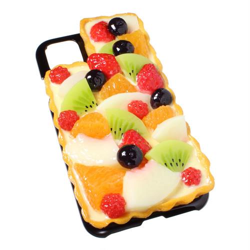[8000]食品サンプル屋さんのスマホケース(iPhone11、11 Pro、11 Pro Max:フルーツタルト)【メール便不可】