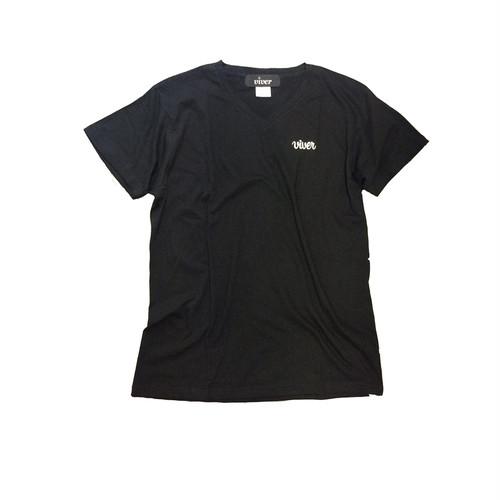 【viver day off】オリジナルワンポイントVネックTシャツ