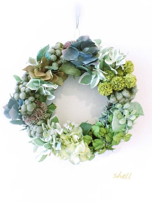 Natural garden wreath・グリーングラデーション