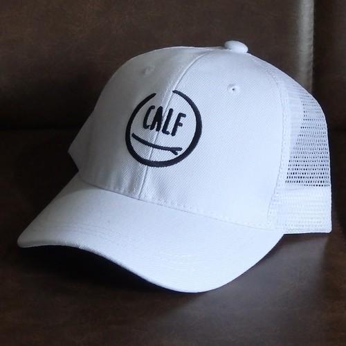 """""""CALF"""" logo mesh-cap WHITE           メッシュキャップ"""