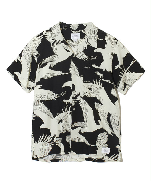 CRIMIE / CR1-02A1-SS08 / SHADOW EAGLE ALOHA SHIRT
