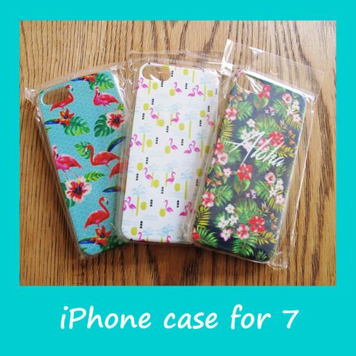 ハワイアン スマホケース for iPhone7 (フラミンゴ&トロピカル)