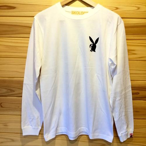 SKOLOCT /  BUNNY ロングスリーブTシャツ / WHITE