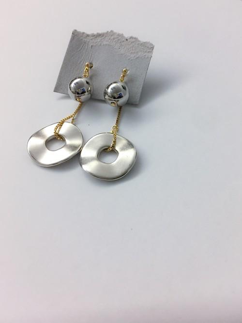 Gold × Silver  circle pierce