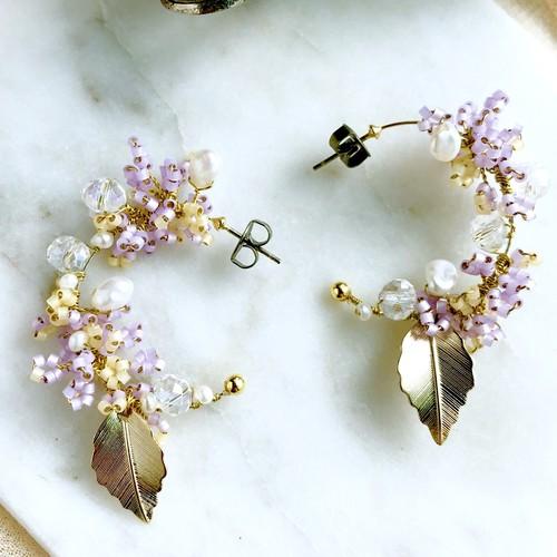 Sweet lilac   イヤリング/ピアス