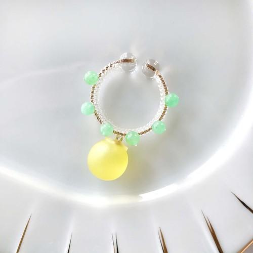candy cuff【GD】lemon yellow×グリーンジェイド