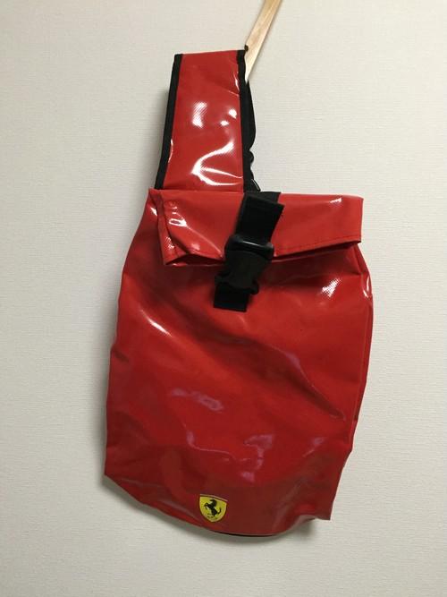 used Ferrari vinyl shoulder bag