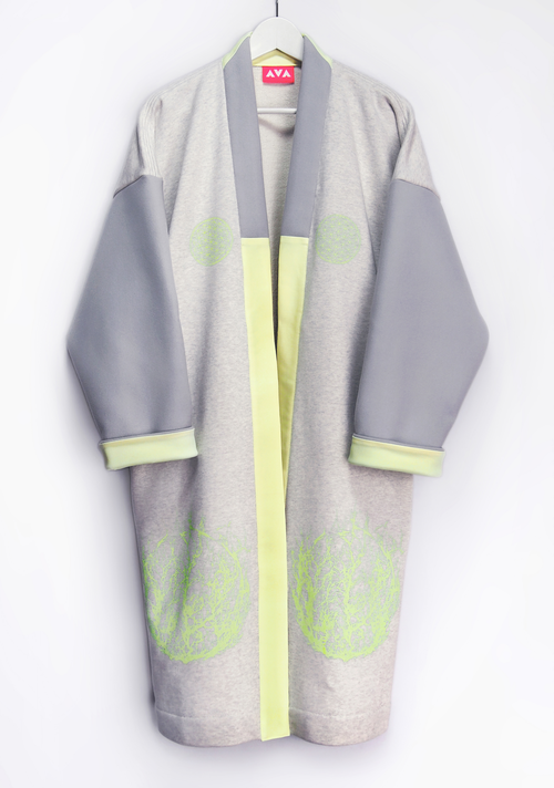 cyber sweat&wool long haori