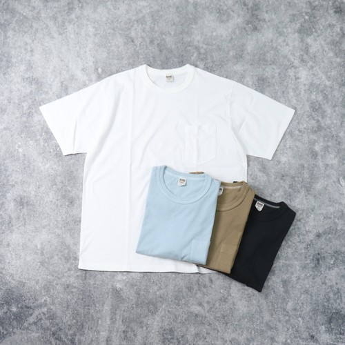 【BARNS OUTFITTERS】 18/ OE S/S Pocket T-Shirt (4色展開) バーンズ 半袖 ポケット Tシャツ