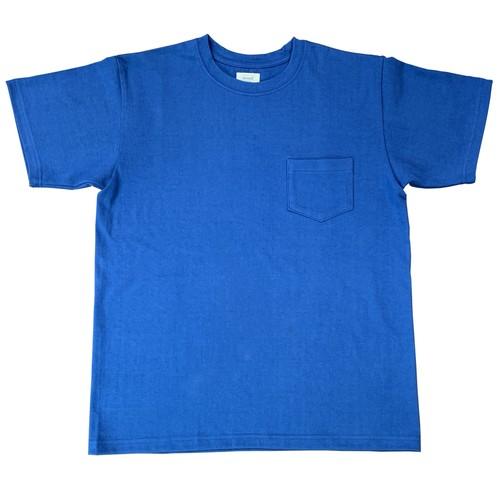 ※アウトレット品 丸胴半袖ポケットTシャツ ブルー