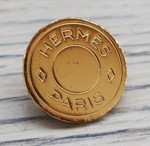 808 HERMES(ヴィンテージ エルメス) セリエ マーク ボタン ゴールド