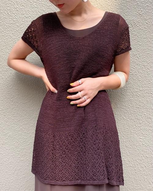 (PAL) s/s knit one-piece
