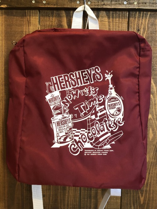 HERSHEY'S CHOCOLATESE NYLON PACKER(RD)/ ハーシーズ バックパック リュックサック ナイロン 90's ビンテージ