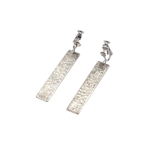 《イヤリング 》TIN BREATH Earrings 10×50mm Silver
