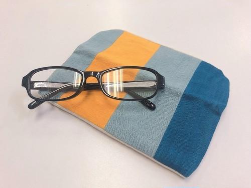 【レンテン族】メガネケース 自然染・手織り