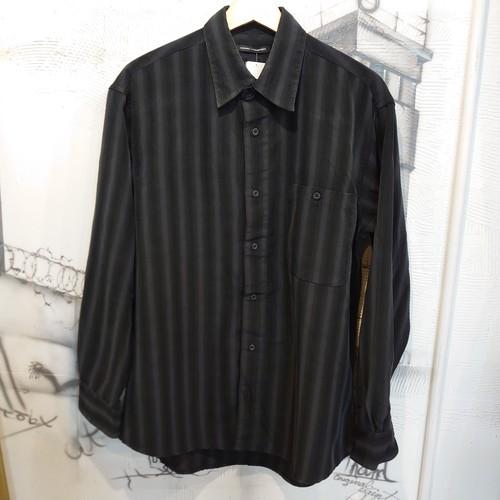 stripe design microfiber shirt