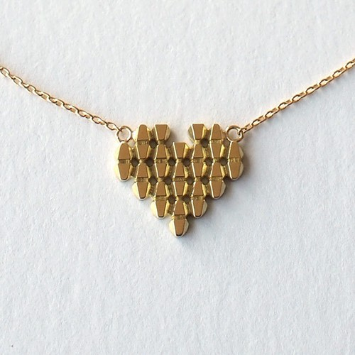 Triangle/ Heart Tile necklace