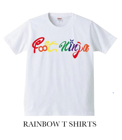 RAINBOW T SHIRT WHT
