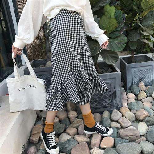 【即納♡】ギンガムデザインスカート 6447