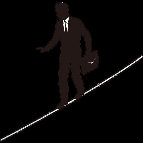 Tightrope Businessman