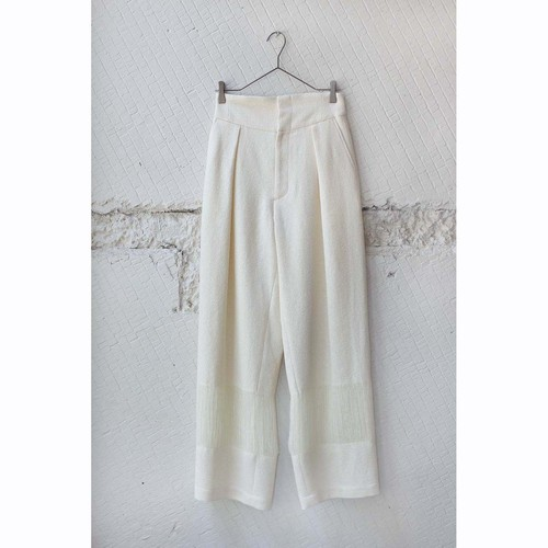 【pelleq】PAPER COTTON HIGH WAIST TROSERS