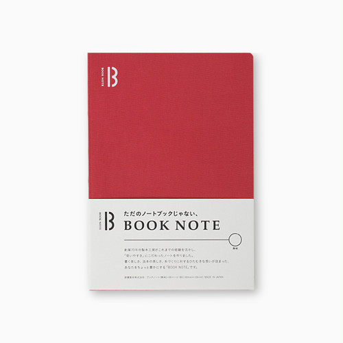 「BOOK NOTE」 /A5サイズ/ルージュレッド