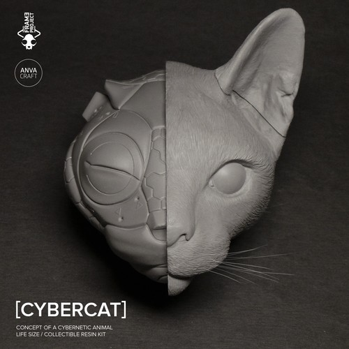 ANVA CRAFT CYBERCAT - 1/1 resin model kit