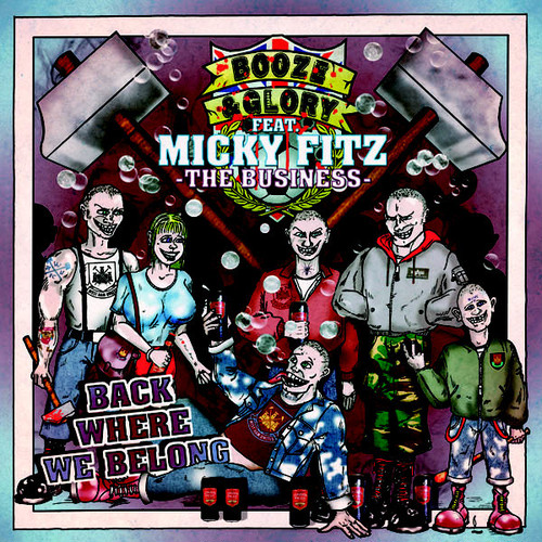 """BOOZE & GLORY Featuring MICKY FITZ - Where We Belong 7""""EP"""