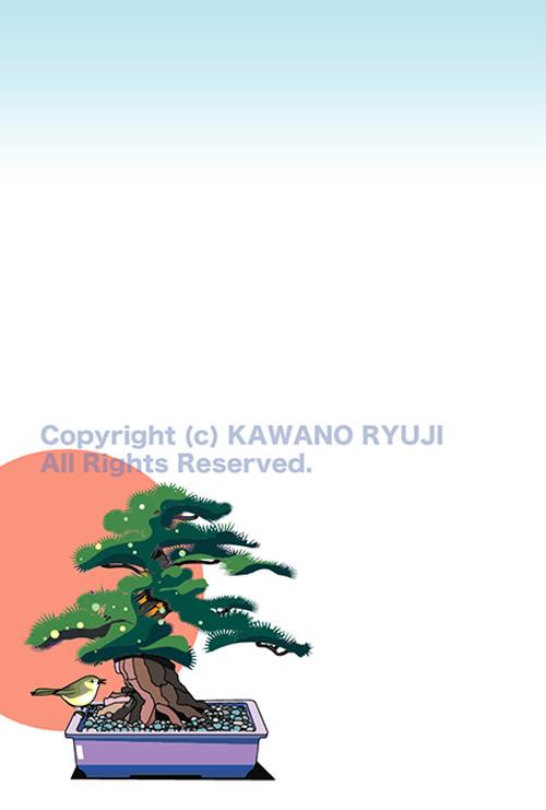 盆栽に初春_aiデータ(ベクターデータ)