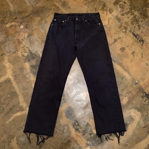 90s Levi's 501 Black Denim pants / USA