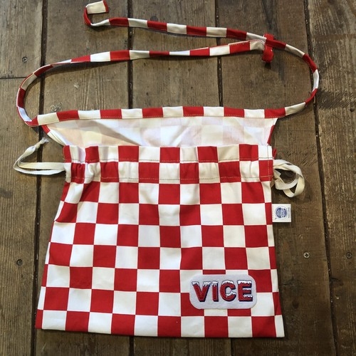 VICE 3-Way Red Cross Bag, Checker Red/White