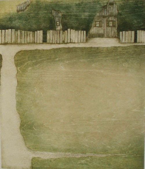 岩切裕子 'from backyard'  IWAKIRI Yuko /woodblock print