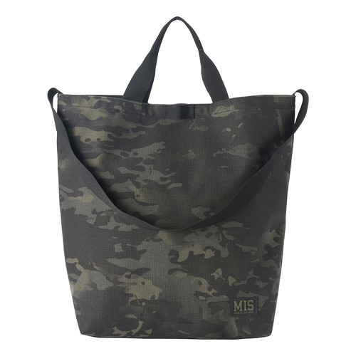 CARRYING SHOULDER BAG CORDURA100D - BLACK MULTI CAMO