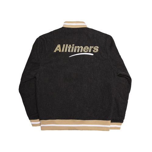 ALLTIMERS (オールタイマーズ) / LEAGUE VARSITY JACKET -BLACK-