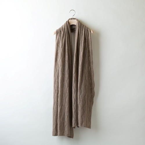 DIA-PATTERN LACE STOLE (Brown)  PCA0002
