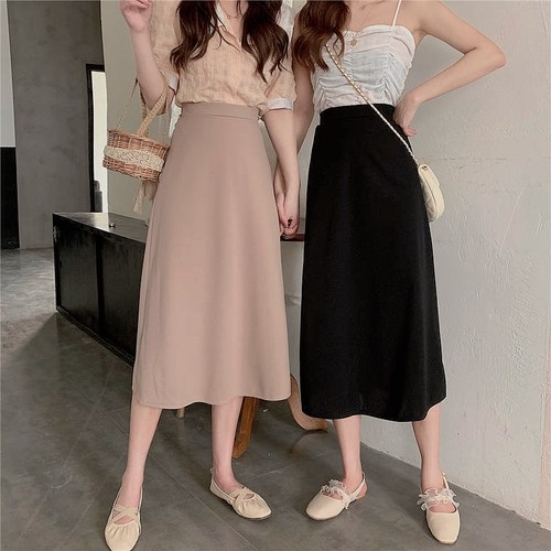 highwaist long skirt 3color