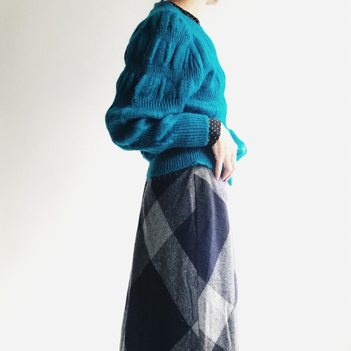 Japanese used Blue knit