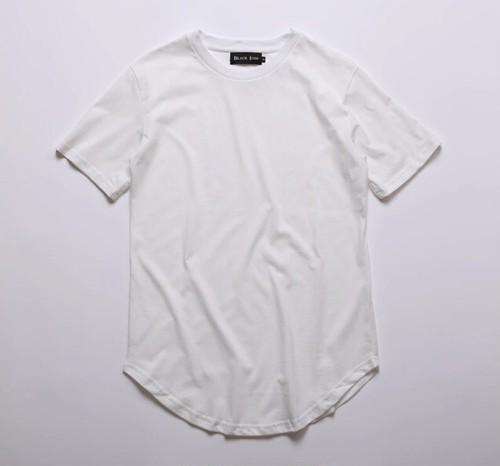 [トレンド]ロング丈幅広Tシャツ 2カラー