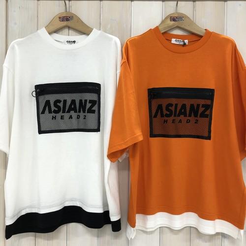 ASIANZ HEAD2  200620 メッシュポケットTシャツ