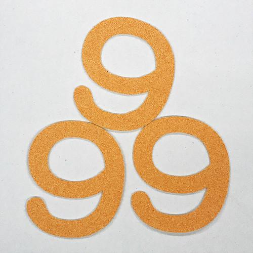 切り文字 A&Cペーパー パルプロック 粘着付 数字「9」