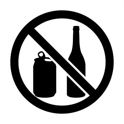 缶・ビン禁止マークのカッティングシートステッカー
