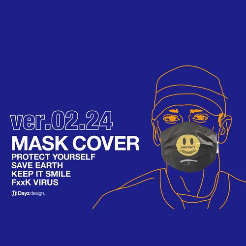 MASK COVER_02.24_BLACK×SMILE(コットンマスクカバー)