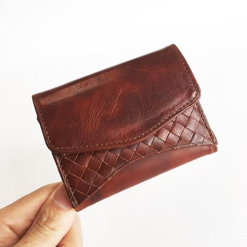 """[小さな三つ折り財布] """"Jack""""マイクロウォレット < Brown> 名入れ・ギフト包装無料"""